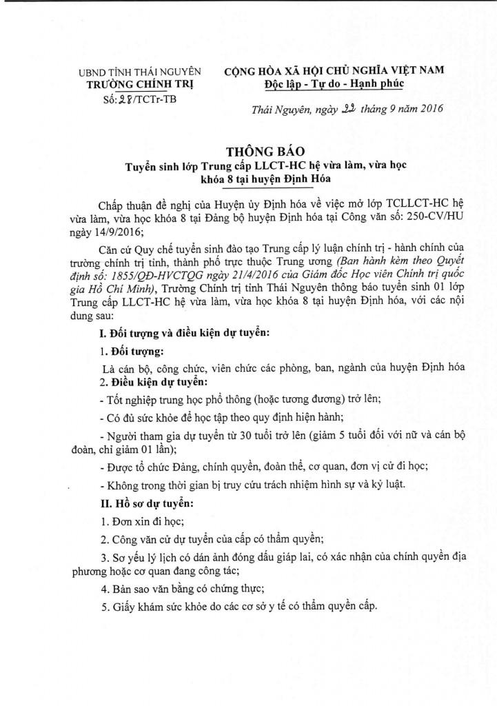 TB tuyen sinh TCLLCT k8 Dinh Hoa_001